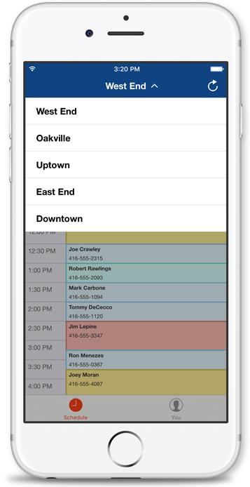 Resurva iOS app - Multi service selection